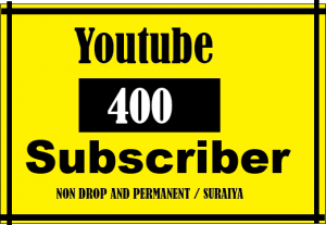 400 + youtube subscriber, Best quality and Lifetime permanent