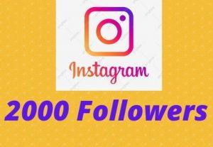 Instagram 2000+ Followers Instant start