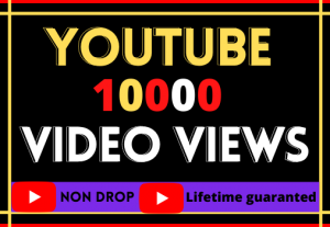 i will do super fast your youtube video 10000 views,lifetime guaranteed and organic
