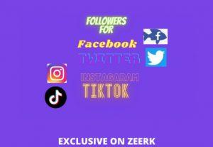 I will provide 500 followers for any social media platform