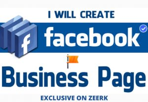 I will create and design facebook business page