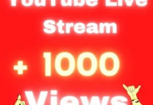 + 1000 Real Active YouTube Live Stream Views –  Monetization – Instant start