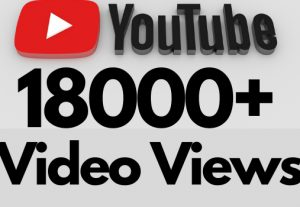 I will add 18000+ REAL AND non drop YouTube video views