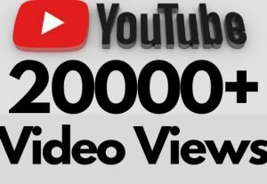 I will add 20000+ REAL AND non drop YouTube video views