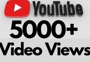 I will add 5000+ REAL AND non drop YouTube video views
