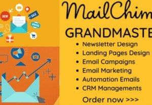 I will be your mailchimp email campaign and mailchimp email marketing expert