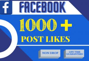 i will do your Facebook post 1000+ likes, non drop,100% real and organic