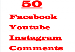 I will 50 + Facebook, Youtube, Instagram USA Comments writings anywhere Lifetime Guaranteed Verified Customer Comments Active User