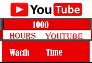 Real 1000 Hours Youtube Wacth Time