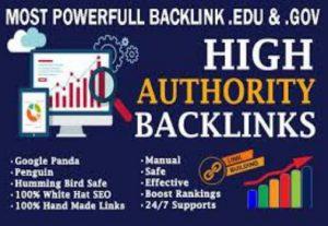 I will give you 10 edu. Gov backlink fast delivery