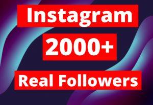 Real Instagram 2000+ Followers lifetime guaranteed