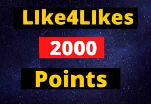 Like4Likes 2000 Points ID Instant