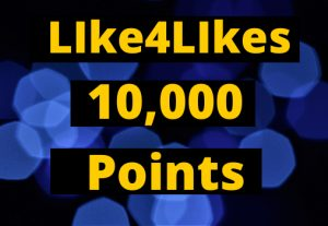 Provide Like4Likes 10,000+ Points Instant
