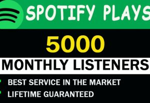 5,000 Spotify Monthly listeners From Usa
