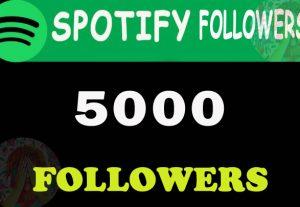 5000 Spotify Followers From TIER 1 countries. USA/CA/EU/AU/NZ/UK