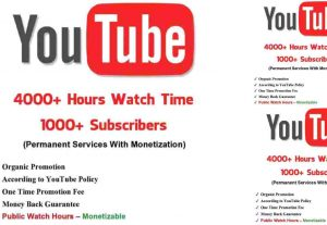 I will do youtube channel monetization