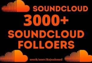 Get life time permanent 3000+ Soundcloud followers organic but Real