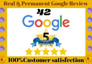 I will Provide 42 Permanent High-Quality Non-Drop Google Reviews