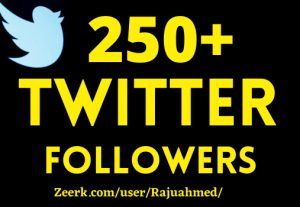 you will get 250+ organic twitter followers high  quality……