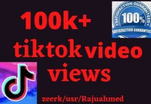 i will give 100000+ tiktok video views non drop life time permanent………