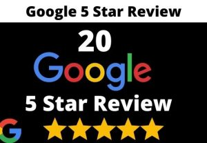 provide 20 permanent 5 star google review for your business