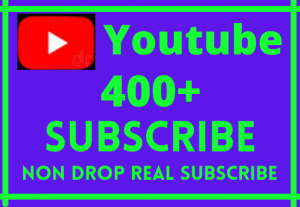 i will give 400+youtube subscribe life time permanent non drop