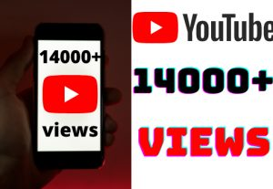 I will add 14000+ YouTube views ,all views are 100% real and organic.
