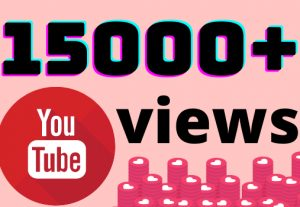 I will add 15000+ YouTube views ,all views are 100% real and organic.