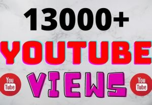 I will add 13000+ YouTube views ,all views are 100% real and organic.