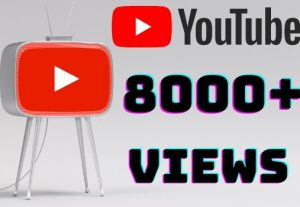 I will add 8000+ YouTube views ,all views are 100% real and organic.