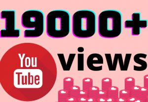 I will add 19000+ YouTube views ,all views are 100% real and organic.