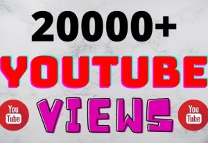 I will add 20000+ YouTube views ,all views are 100% real and organic.