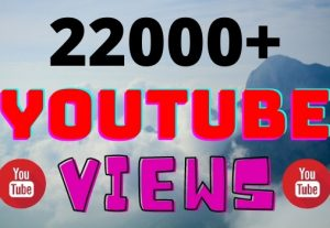 I will add 22000+ YouTube views ,all views are 100% real and organic.