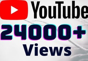 I will add 23000+ YouTube views ,all views are 100% real and organic.