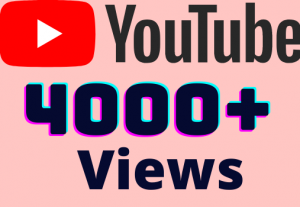 I will add 4000+ YouTube views ,all views are 100% real and organic.