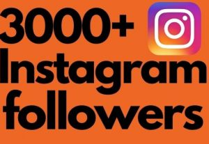 I will add 3000+ Instagram followers all followers are 100% real and organic.