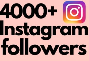 I will add 4000+ Instagram followers all followers are 100% real and organic.