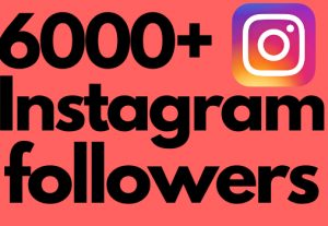 I will add 6000+ Instagram followers, all followers are 100% real and organic.