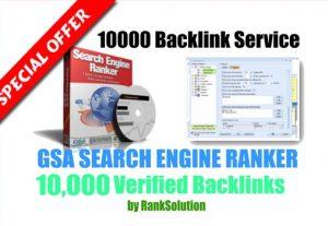 5 x Order – 10000 GSA SER Backlinks easy Link Juice and Faster Index