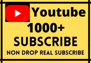 i Will Give 1000+ Youtube Channel Subscribe Life Time Grented and Permanent….