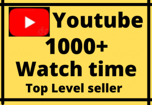 Get permanent 1000+hours watch time nono drop Real 100% ……………