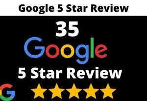 provide 35 permanent 5 star google review