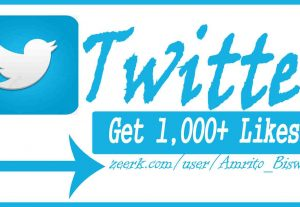 You Will Get 1,000+ Organic Twitter Likes, High Quality, Non-Dropped, Real Active User 100% Guaranteed.