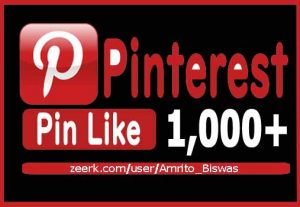 Add 1,000+ Pinterest Organic And Real Pin Likes, Non-Dropped and Lifetime guaranteed.