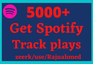 Get 5000 real Spotify Track Plays- Non drop