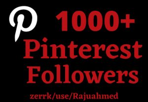Permanent 1000+ Pinterest followers non drop life time Grented