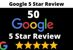 I will provide 50 permanent 5 star google review for your website
