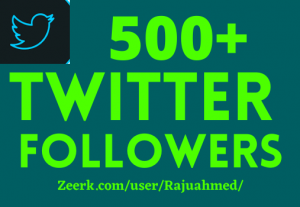 500+organic twitter followers 100% real and non drop grented