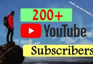 Get 200+ YOUTUBE SUBSCRIBERS NON DROP NATURAL PATTERN AND ORGANIC WITH SUPER FAST GUARANTEED
