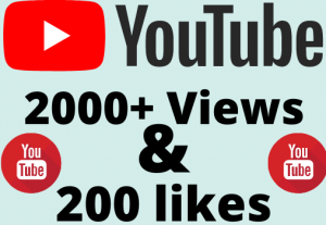 I will add 2000+ YouTube views & 200+ likes ,all are 100% real and organic.